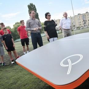 Teqball asztal a Felsővárosban: Egerben mindenki lehet focisztár!