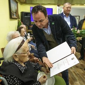 A 100 éves Rozika néni köszöntése