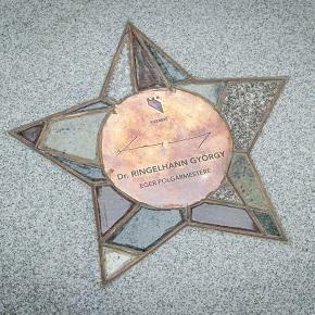 Dr. Ringelhann György csillagával gazdagodott Eger belvárosa